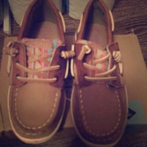 Kid's sperry top-sider shoes, size 11M